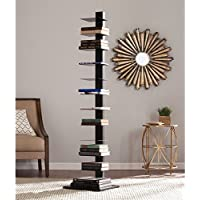 Harper Blvd Ferguson Black Spine Tower Shelf, Features twelve (12) shelves for books or media