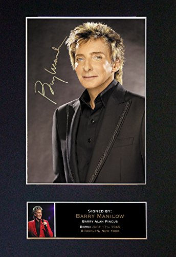 (#94 Barry Manilow Signed Autograph Photo Reproduction Print A4 Rare Perfect Birthday (297 x 210mm) (Not Framed))