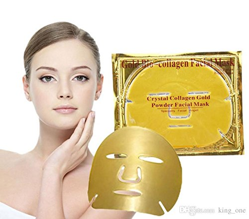 JST Crystal Gold Collagen Face Facial Mask Bio - Powder Anti Wrinkle Moisture Premium Skin Care Patch Pad with Lavender Essential Oil, Collagen, Haluronic acid Pack of Three