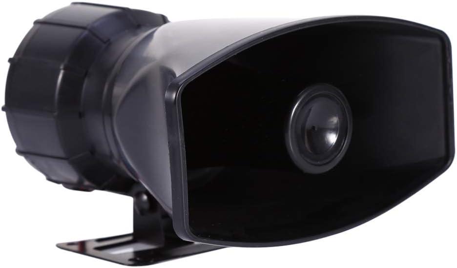 EBTOOLS Car Loud Horn 12V,5-Sound Tone 300db Car Van Truck Megaphone Loud Air Horn Siren PA MIC Speaker ce
