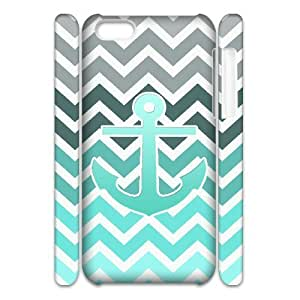 ALICASE Design Diy hard Case Blue Chevron Anchor For Iphone 4/4s [Pattern-1]