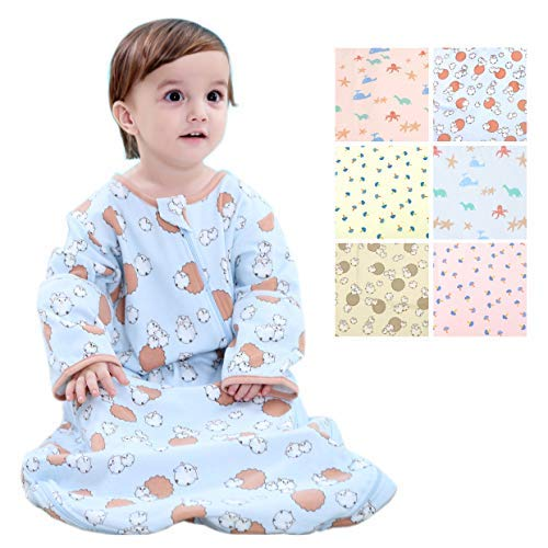 Beyond Your Thoughts 100% Cotton Wearable Blanket Baby Sleeping Bag Spring/Autumn/Winter (3mos-6.5year)