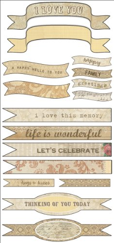 Melissa Frances 12-Pack Attic Treasures Sticker Banners - Melissa Frances Album