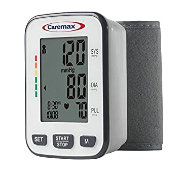 Clinical Automatic Blood Pressure Monitor FDA Approved by Caremax with Large Screen Display Portable Case Irregular