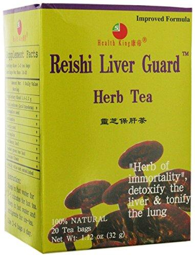 Health King Reishi Liver Guard Herb Tea, Teabags, 20 Count Box
