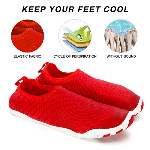 Beach Boating Water Socks Shoes Shoes Walking Shoes for Quick Aqua Pool Diving Barefoot Yoga Dry Swim Surf Womens Red Mens vOxrdzwqSv