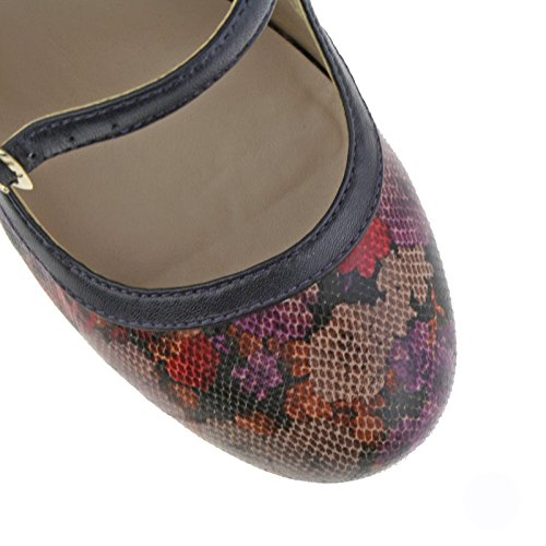 Lotus Hallmark Chaussures De Jasmyn Purple Floral Print Mary-jane 4 llNlN