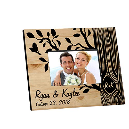 (Personalized Tree of Love Wooden Picture Frame)