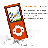 Tomameri -Video Player with Rhombic Button-MP3 Music Player with a 16 GB Micro SD Card -Orange2