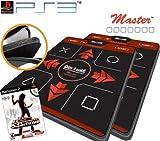 2 x Dance Dance Revolution Ultra Sensitive Master Super Deluxe Dance Pad for PS3 + DDR Supernova for