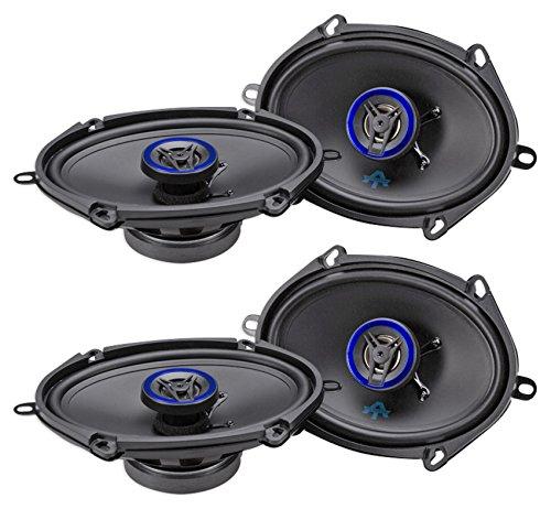 Autotek Car Speakers - (4) AUTOTEK ATS5768CX 5x7/6x8 1000 Watt 2-Way Car Audio Coaxial Speakers