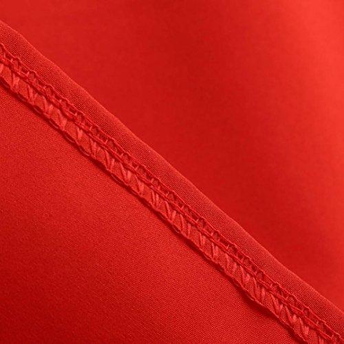Balançoire Soirée Décontracté 'Audrey Classique Style Femmes Robe Robe à Ba Rouge sans Vintage Soirée Rétro Zha Manches Hei Hepburn' Moulante qqIYfw8