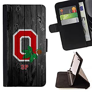 Jordan Colourful Shop - Ohio State Football For Samsung Galaxy J3 - Leather Cover Case High Impact Absorption Case -