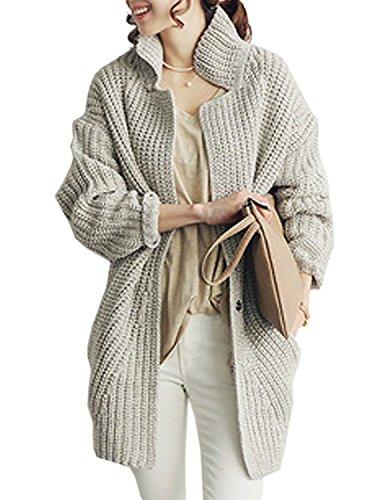 topmodelss レディース 秋冬暖かい 長袖 ファッション カーディガン タートルネック セーターコート ケーブル編みニット 森ガール