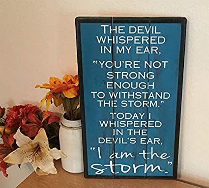 Adonis554Dan Custom Wood Sign I AM The Storm Inspirational Wall Art  Personalized Quote Recovery Gift Addiction Recovery Rustic Pallet Sign
