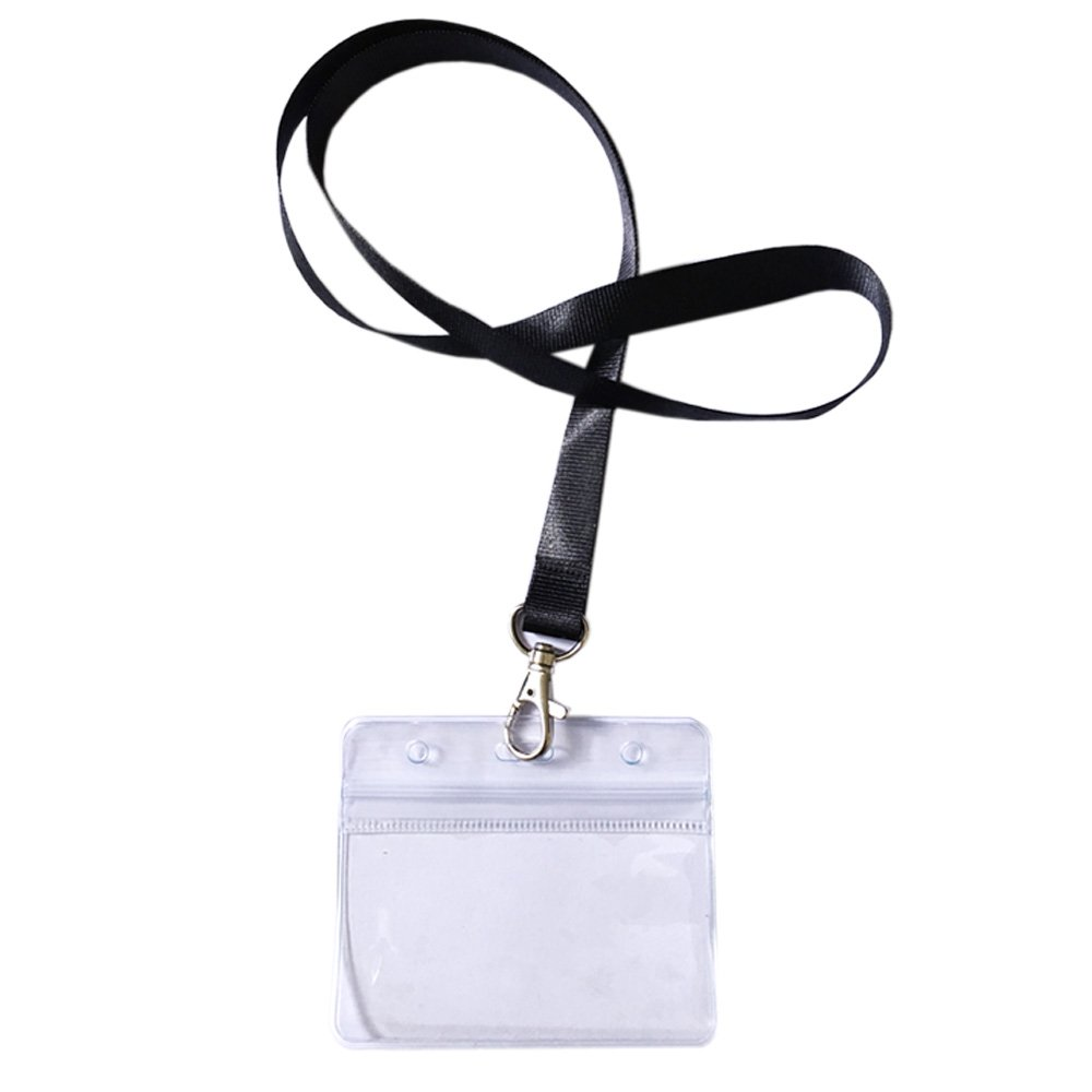 Wowfeu Lot De 10 PCS Badge Carte Porte Cartes Visite Avec Laniere
