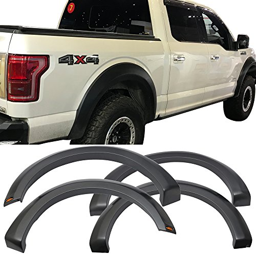 Pre Painted Fender Fits 2015 2017 Ford F150 New Raptor Style Abs Fender Flares Wheel Cover Painted Grey Gray 4pc By Ikon Motorsports �2016