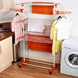 Top Home Solutions 3 Tier Deluxe Clothes Airer Foldable Laundry Drying Rack by Top Home Solutions