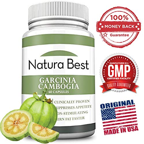Naturabest Garcinia Cambogia Extract With HCA - Best Weight Loss and Appetite Suppressant Supplement, 1000MG Per Cap, 100% Results or Money Back Guarantee