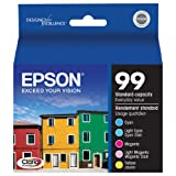 Epson T099920-S T099 Clarian Color Multipack (CMYLtCLtM) Ink Cartridges, Standard Capacity