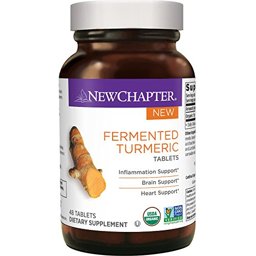 New Chapter Organic Turmeric Supplement - Fermented Turmeric Tablet for Brain, Heart and Inflammation Support – 48 ct