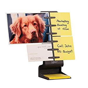 """NoteTower Desktop Mini Black - Sticky Note Organizer and Dispenser - Holds and Displays Photos, Sticky Notes and Business Cards + Bonus 50 Sheets 3"""" x 3"""" Sticky Notes"""