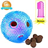 Cheap Bestanx Dog Chew Ball Toy for Boredom IQ Treat Interactive Dental Ball Food Dispensing Toys for Small Medium Large Dogs- Nontoxic Rubber Bouncy Dog Puppy Ball-Clean Teeth Gift Finger Toothbrush