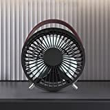 LOHOME Quiet Fan, Protable Mini Rechargable USB Desk Fan Handheld Student Fan (Black)