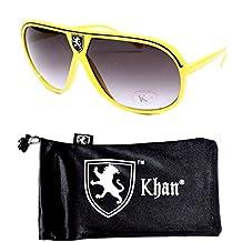 Aviator Pilot Turbo Vintage Retro Sunglasses Unisex A42-kp (yellow/black w Kh...