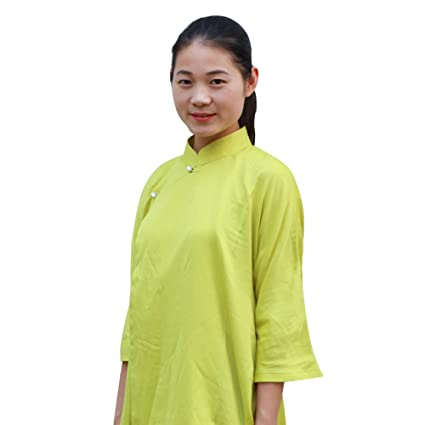 8dabad5af Amazon.com : BlueSkyDeer Women's Meditation Clothing Tai Chi Shirt ...
