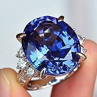 Siam panva Fashion 925 Silver Blue Sapphire Ring Anniversary Engagement Womens Jewelry (8)