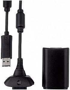 Kit Play E Charge Para Controle Sem Fio Xbox 360 - Acompanha Bateria E Carregador