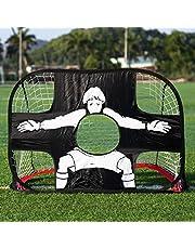Bogeer 2-in-1 Porta di Calcio Pieghevole e Portatile Obiettivo da Calcio Pop up Football Goal per Bambini Rete da Calcio per Allenamento di Calcio Indoor e Outdoor/Pratica