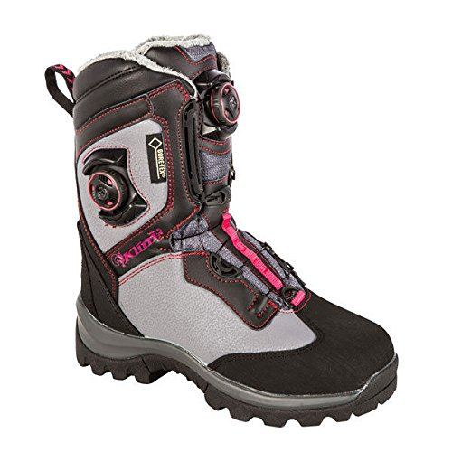 (Klim Aurora GTX Boa Women's Snocross Snowmobile Boots - Dark Gray/Size 6)