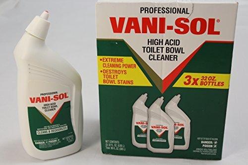 Pro Vani-Sol High Acid Bowl Cleanser 32oz Bottles/ 3 per carton by VANI-SOL