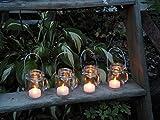 Set of 4 Mini Mason Jar Mug Candle Holder Lantern Vases by Mountain Woman Products