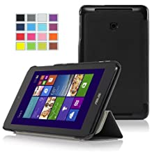 IVSO Slim Smart Cover Case for ASUS VivoTab Note 8 (M80TA) Windows 8.1 Tablet (Black)