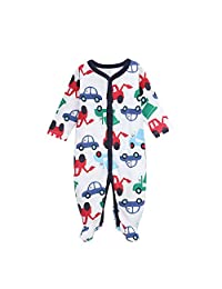 Infant Baby Girl's Footed Sleeper, Premium Soft and Breathable Cotton