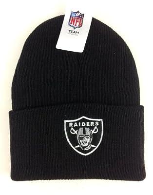 NFL Oakland Raiders Black Cuffed Beanie Hat