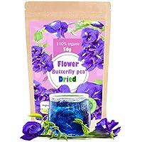 Premium Butterfly Pea Tea Super Dried Flowers 100g (50g x 2 Pack) Origin in Thailand