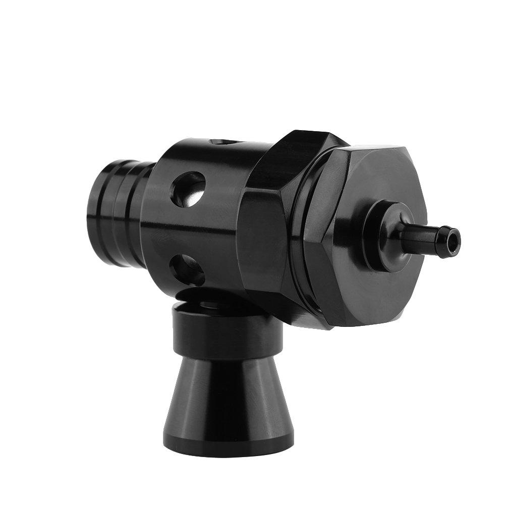 Qiilu 25mm Turbo Auminum Blow Off Valve Universal Type Relief Valve (Black)