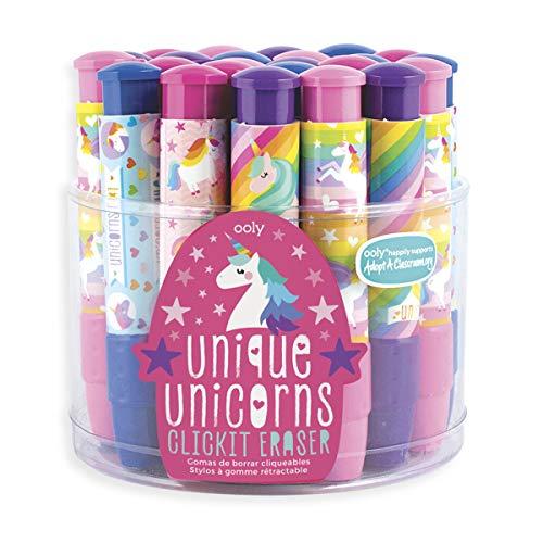 Ooly Click It Eraser - Clickable Pencil Erasers Set - Unique Unicorns by OOLY (Image #6)