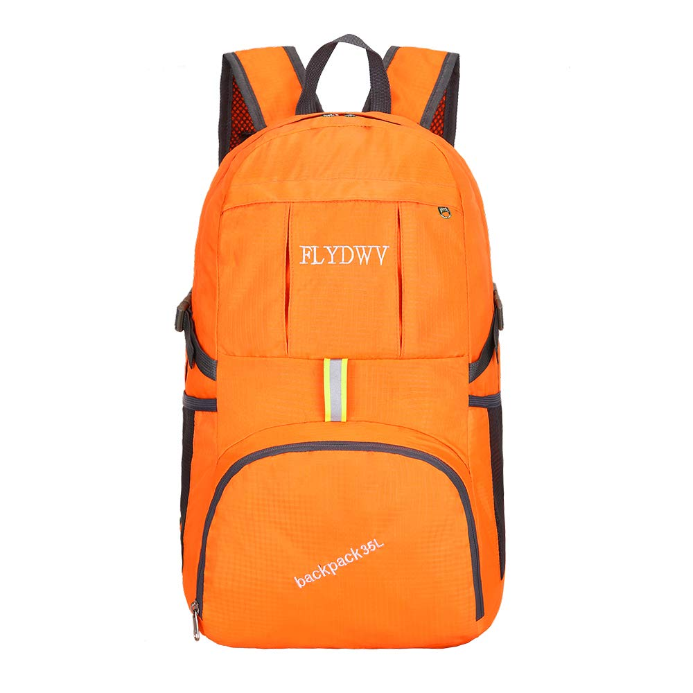 FLYDWV Daypack Waterproof Large 35L Outdoors Sports Folding Lightweight Travel Foldable Backpack Mountaineering Knapsack