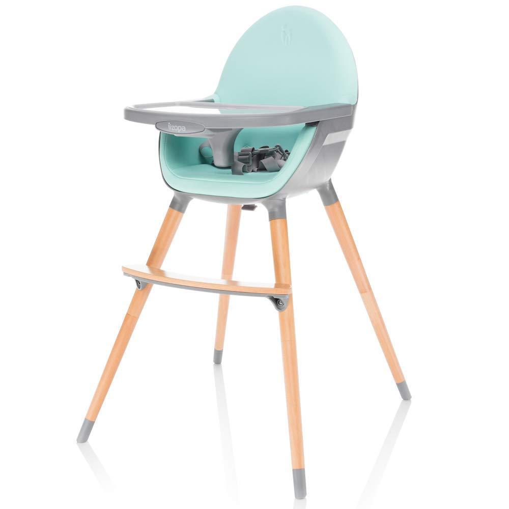 ZOPA Holzhochstuhl DOLCE Monat und bis 15 kg Kinderhochstuhl Treppenhochstuhl Blush Pink//Grey In drei Positionen einstellbares Esstischchen ab dem 6