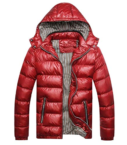 Red Chunky Men Howme Oversized with Anorak Jacket Packable Guard Chin faqB4