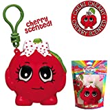Whiffer Squishers 'Cheri Cherry' Slow Rising Squishy Toy Cherry Scented Backpack Clip