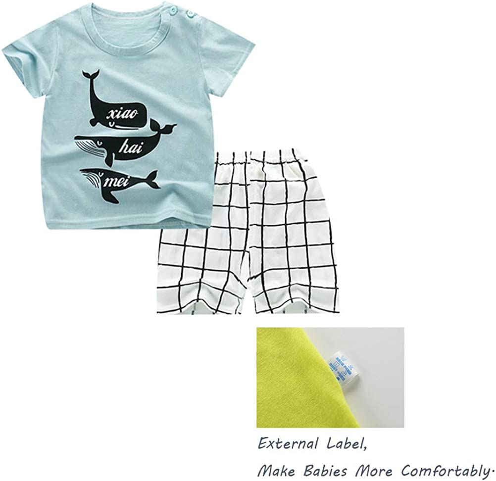 6 pezzi per bambini e ragazzi Deyou Set di 3 pantaloncini a maniche corte