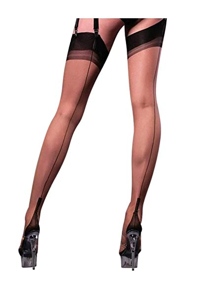 fd2bac17b Gio Women Contrast Seam Fully Fashioned Stockings - RARE  Amazon.co.uk   Clothing
