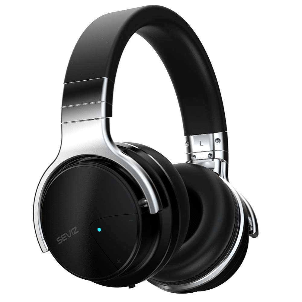 SEVIZ Wireless Bluetooth Headphones, 30 Hours, The Best Sound and Powerful bass, Noise canceling Headphones, Ear-Friendly earpads, Foldable, Built-in Microphone, Stereo Headphones 10