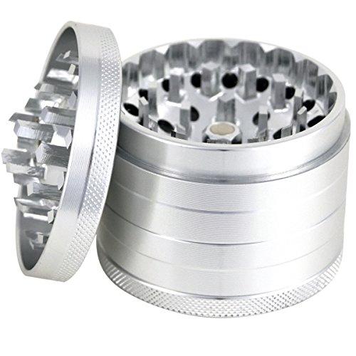 4 part herb grinder with crank - 5